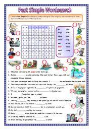 english teaching worksheets simple past