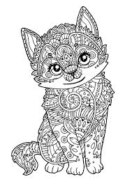 cute kitten animals coloring pages for adults justcolor