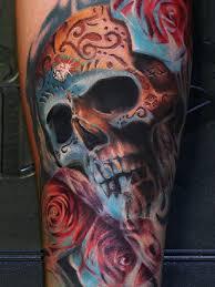 skull tattoos colour