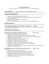 Skills Summary Resume Examples by Cna Resume Certified Nursing Assistant Resume Summary Nursing