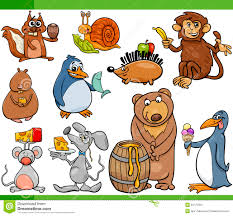 animals and food cartoon set stock vector image 53175054