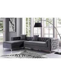 left facing chaise sectional sofa spectacular deal on sania 115 grey velvet left facing chaise