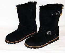 ugg boots australia noira ugg australia noira solid boots black size 10 suede leather