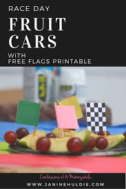 Printable Flags Race Cars With Fruit And Free Flag Printable And Back Tips