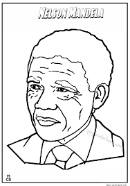 famous people coloring pages nelson mandela cycle 2 pinterest