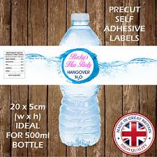 Decorate Water Bottle Personalised Hen Party Water Bottle Labels Hangover Kit Party