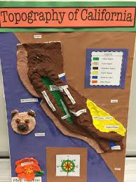 california map project 4th grade california regions topography map classroom