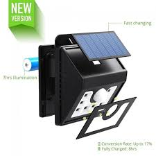 mpow solar light instructions solar power lights outdoor lighting wireless 8 led security motion