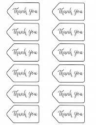 thank you tags printable graduation ideas