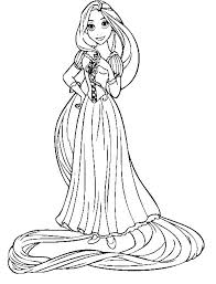 rapunzel coloring pages ngbasic com