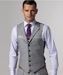 2017 gray wool mens vest and pant formal suit vest prom tuxedo