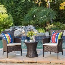 Outdoor Furniture 3 Piece by Wade Logan Lockard 3 Piece Outdoor Chat Set U0026 Reviews Wayfair