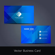 Free Graphics For Business Cards Modern Blue Color Business Card Free Vectors Ui Download