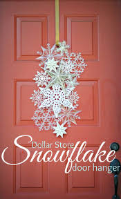 dollar store snowflake door hanger dollar stores holiday