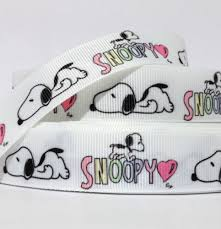 snoopy ribbon grosgrain ribbon 7 8 snoopy pink heart s52 printed bulk 1 3 5