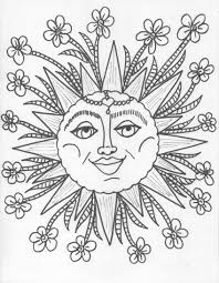 13 images of trippy sun and moon coloring pages trippy sun