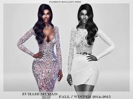 fashionroyaltysims u0027 zm silver glitter dress 2014 2015 sims 4