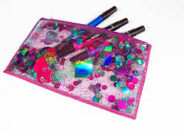 purple glitter makeup bag mugeek vidalondon