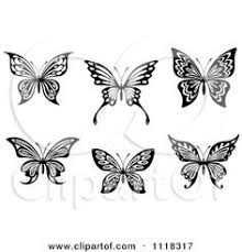 clipart of a black and white butterfly 29 royalty free vector