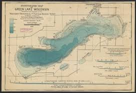 map of lake geneva wi hydrographic map of green lake wisconsin map or atlas