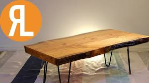 live edge table how to flatten wood using a router youtube