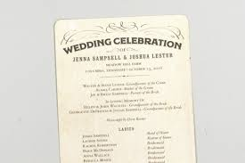 wedding programs rustic rustic vintage antique wedding celebration programs with