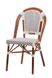 Aluminum Bistro Chairs Aluminum Bamboo Look Bistro Chair Stackable Outdoor Seating