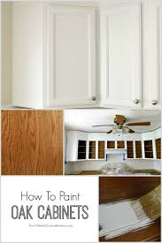 Painting Wooden Kitchen Cabinets Best 25 Painted Oak Cabinets Ideas Only On Pinterest Painting