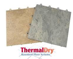 Basement Flooring Tiles With A Built In Vapor Barrier Thermaldry Basement Flooring System Basement Systems