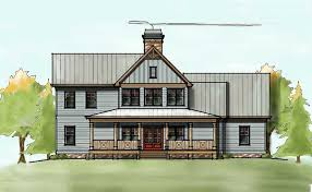 narrow cottage plans 2 story house plan with covered front porch