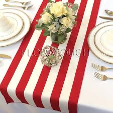red and white table runner white and red stripe table runner with red stripes on the borders