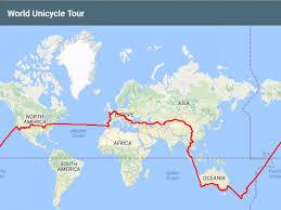 pratt map curry rivel ed pratt unicyclist two years on the road