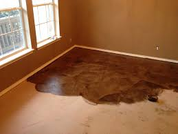 Laminate Flooring Over Concrete Diy Paper Bag Floors That Look Like Stained Concrete Momdepot