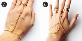 diy jewelry how to make a hand chain more com