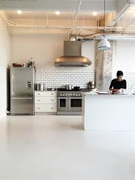 Commercial Kitchen Backsplash Commercial Kitchen Like The Simple Materials Subway Tile