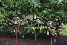 garden stakes decorative garden stakes metal whimsical garden