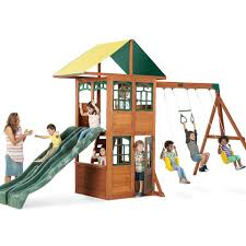 big backyard treasure cove wood swing set toys