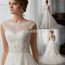 wedding dress overlay cap sleeve illusion high neck lace overlay satin and organza