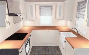 Kitchen Cabinets For A Small Kitchen Small Kitchen With Off White Prefabricated Kitchen Cabinets Home
