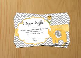 elephant baby shower raffle ticket raffle card