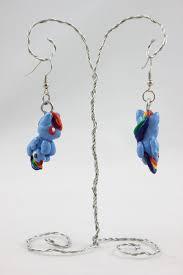 my pony earrings rainbow dash earrings my pony by sweetemii on deviantart