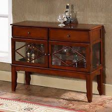 buffet server sideboard table wine cabinet with drawers glass