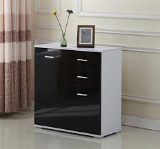 Modern Sideboard Uk Homcom Gloss Side Cabinet Sideboard Storage Cupboard Black