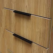 Modern Black Cabinet Pulls - Black kitchen cabinet handles