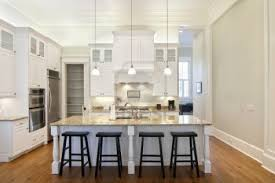 Kitchen Cabinets With Island White Kitchen Cabinets With Dark Floors Eight Light Brush Nickel