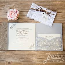 sts for wedding invitations classic floral tri fold laser cut wholesale wedding invitation