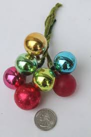 Floral Picks Vintage Christmas Decorations Holiday Ornament Floral Picks