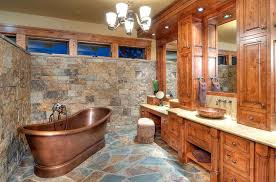 rustic bathroom design rustic bathroom pictures awesome rustic bathroom with copper bathtub