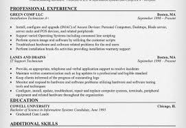 Resume Sample For Computer Technician by Computer Technician Resume Format