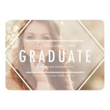 graduation announcement triangle photo graduation announcement invitation card